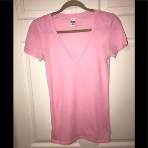 Set of 2‼️ Pink Victoria's Secret Basic T-shirts